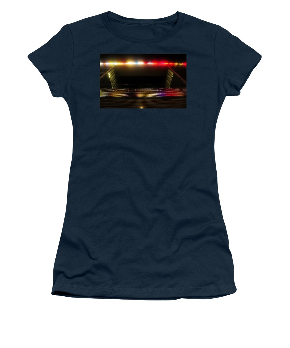 Tampa Museum Of Art Women's T-Shirt featuring the photograph Museum Lights by David Lee Thompson