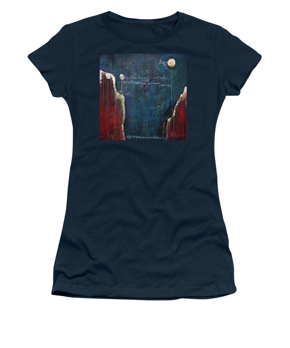Love Women's T-Shirt featuring the painting My Heart by Laurie Maves ART