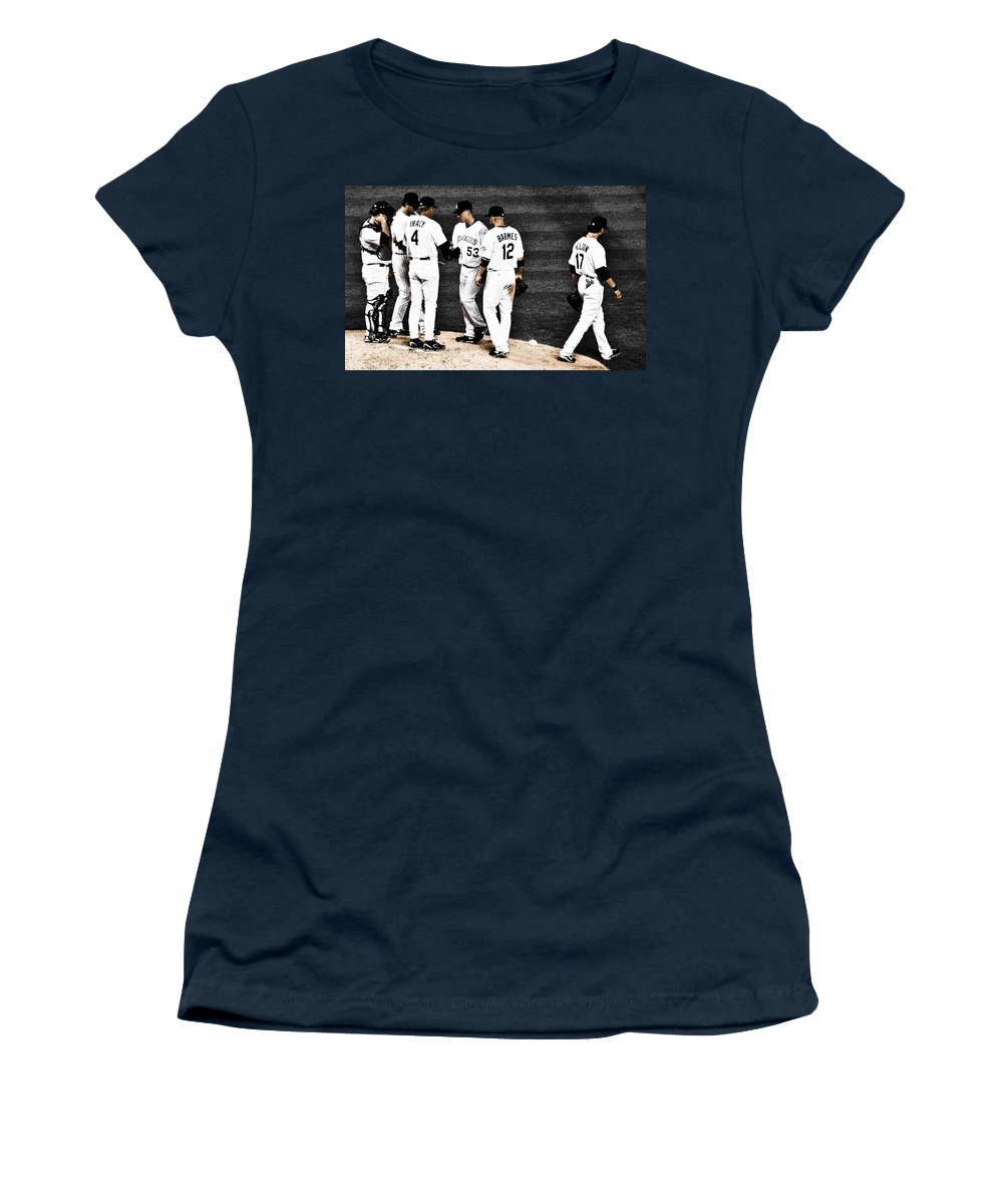 Baseball Women's T-Shirt (Athletic Fit) featuring the photograph My Rock Collection - Colorado Rockies by Marilyn Hunt