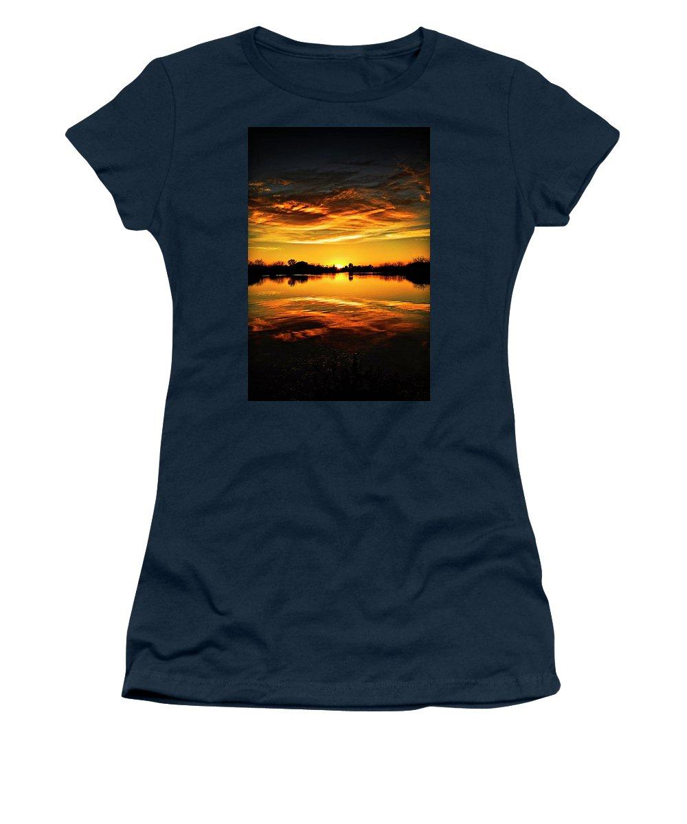 Arizona Women's T-Shirt (Athletic Fit) featuring the photograph My View by Saija Lehtonen