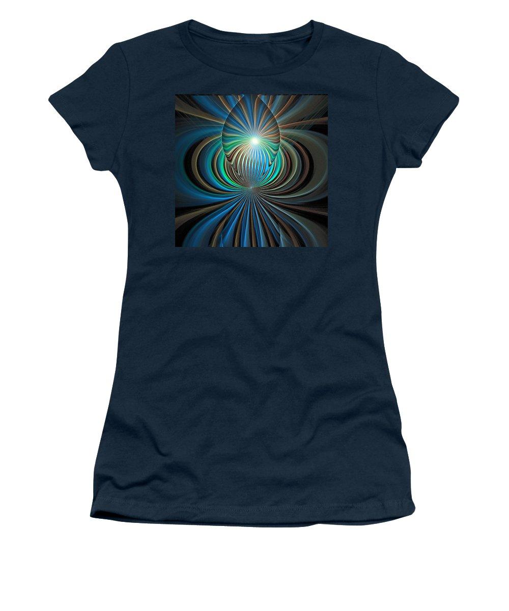 Digital Art Women's T-Shirt (Athletic Fit) featuring the digital art Namaste by Amanda Moore