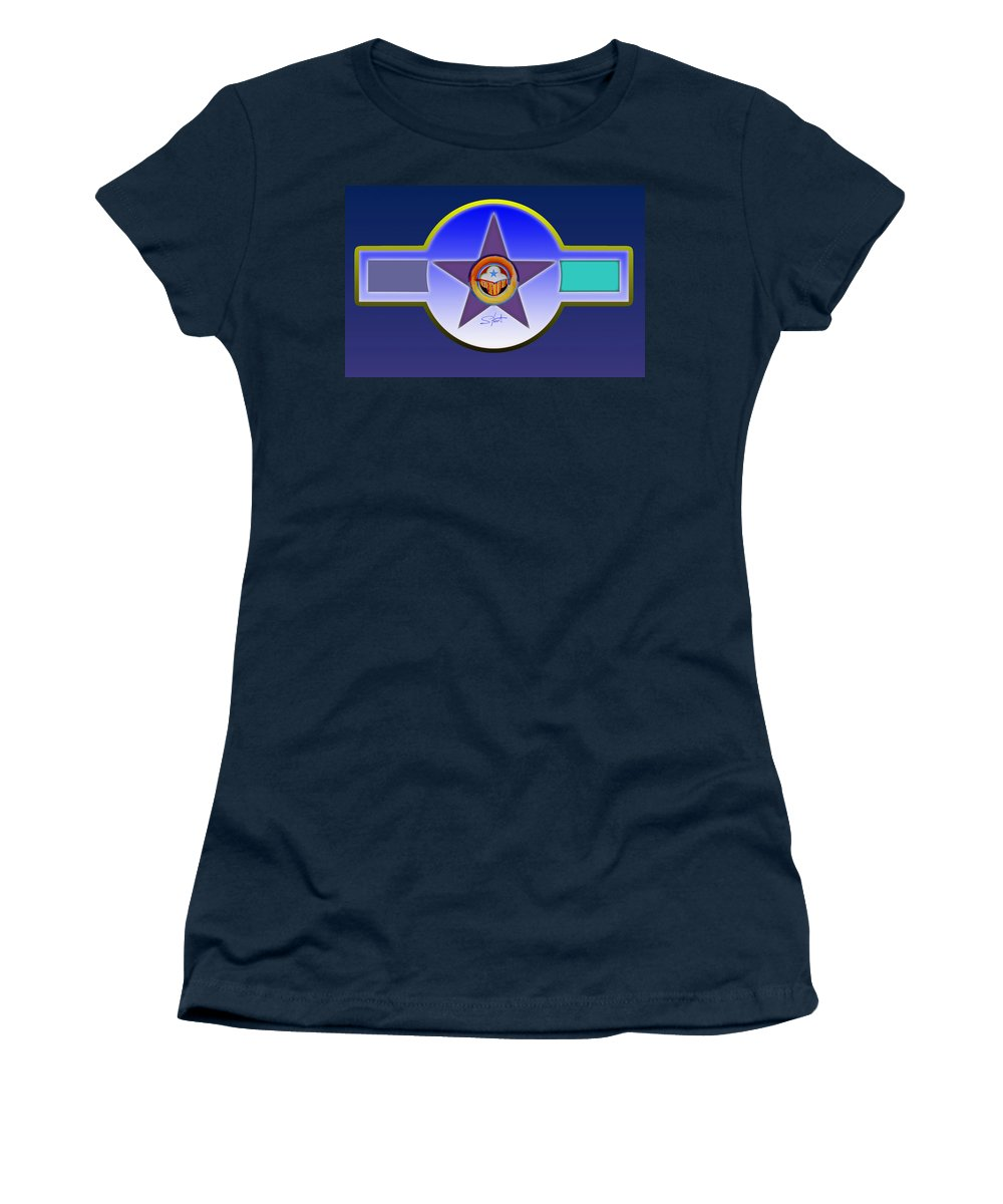 Insignia Women's T-Shirt (Athletic Fit) featuring the painting Native American Landscape by Charles Stuart