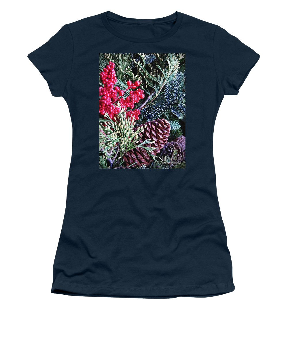 Christmas Women's T-Shirt featuring the photograph Natural Christmas 3 by Sarah Loft