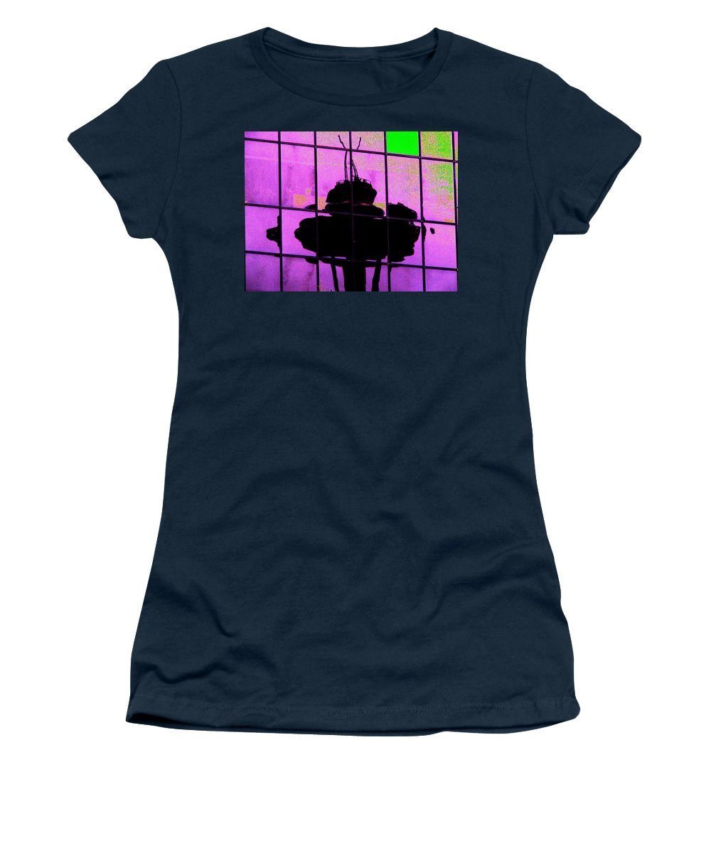 Seattle Women's T-Shirt (Athletic Fit) featuring the digital art Needle Reflect 2 by Tim Allen