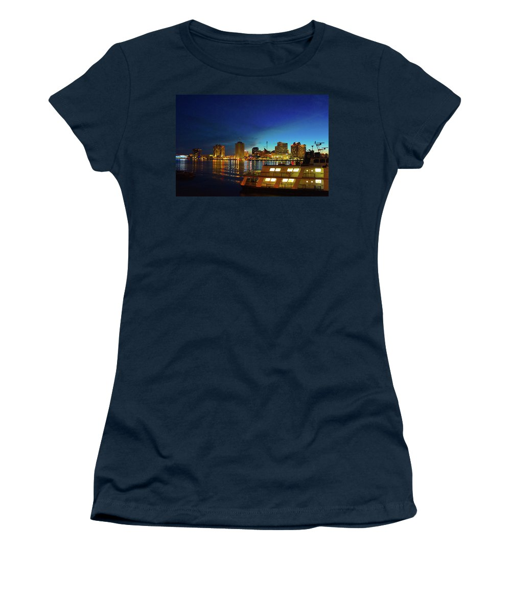 New Orleans Women's T-Shirt (Athletic Fit) featuring the photograph New Orleans Downtown Skyline by Art Spectrum
