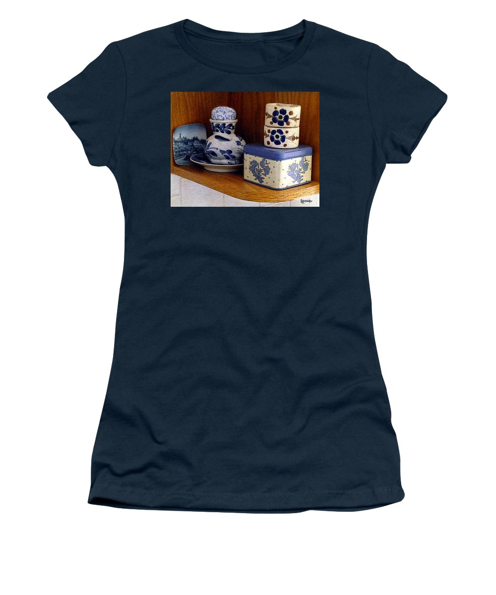 Box Women's T-Shirt featuring the digital art New Shelf Old Memories by RC DeWinter