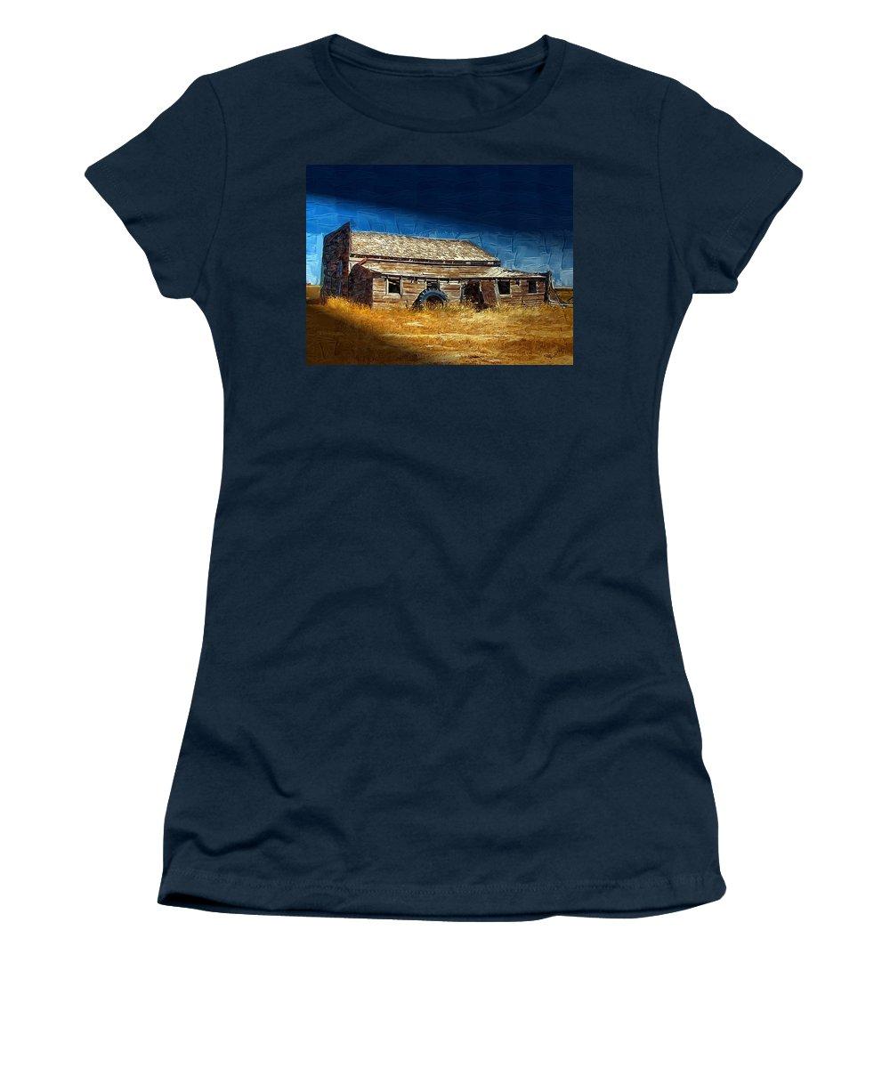 Window Women's T-Shirt featuring the photograph Night Shift by Susan Kinney