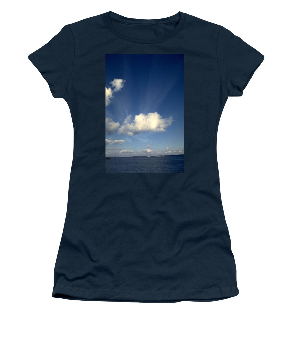 Northern Sky Women's T-Shirt (Athletic Fit) featuring the photograph Northern Sky by Flavia Westerwelle