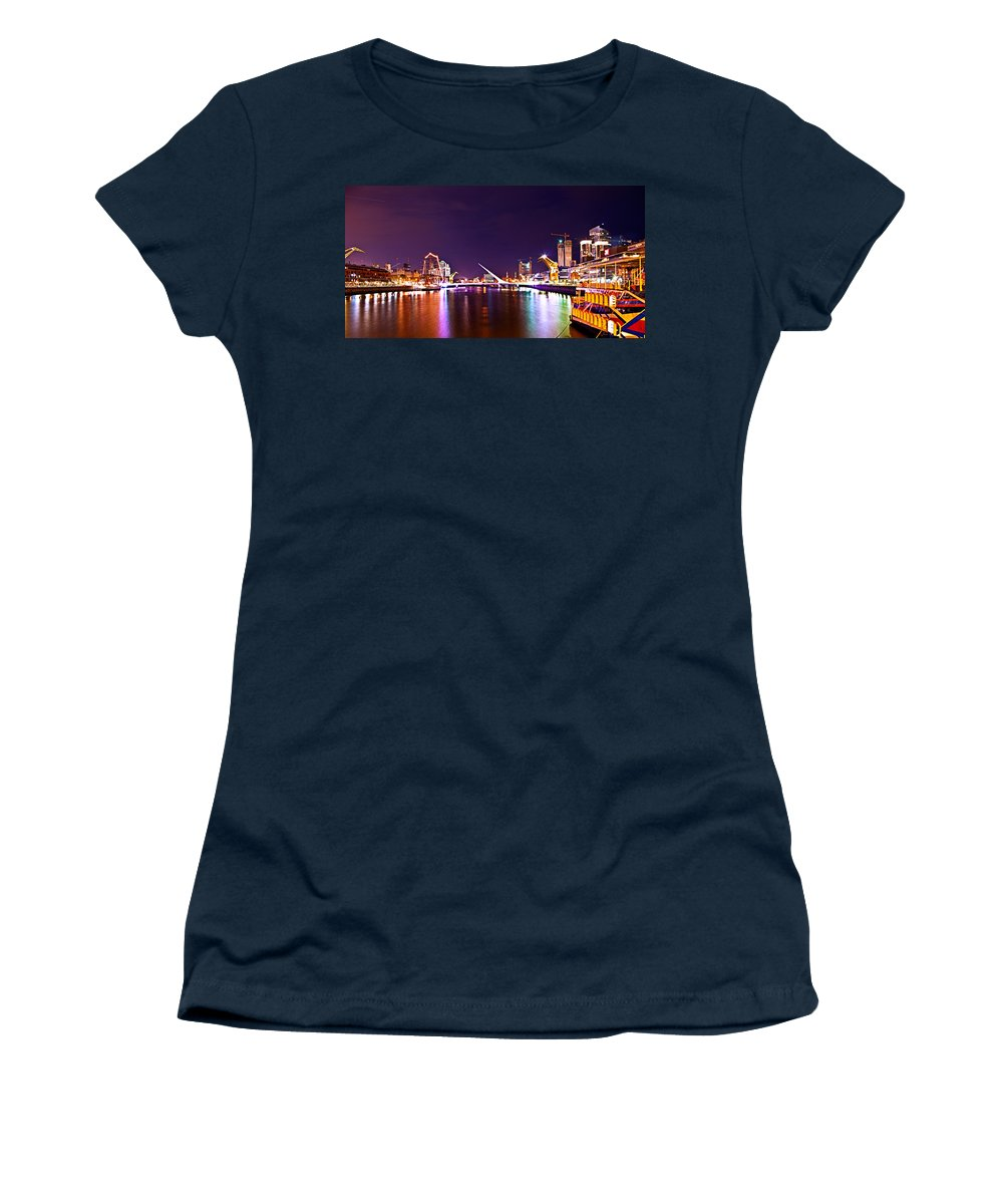 Buenos Women's T-Shirt featuring the photograph Nothing But Lights by Francisco Colon