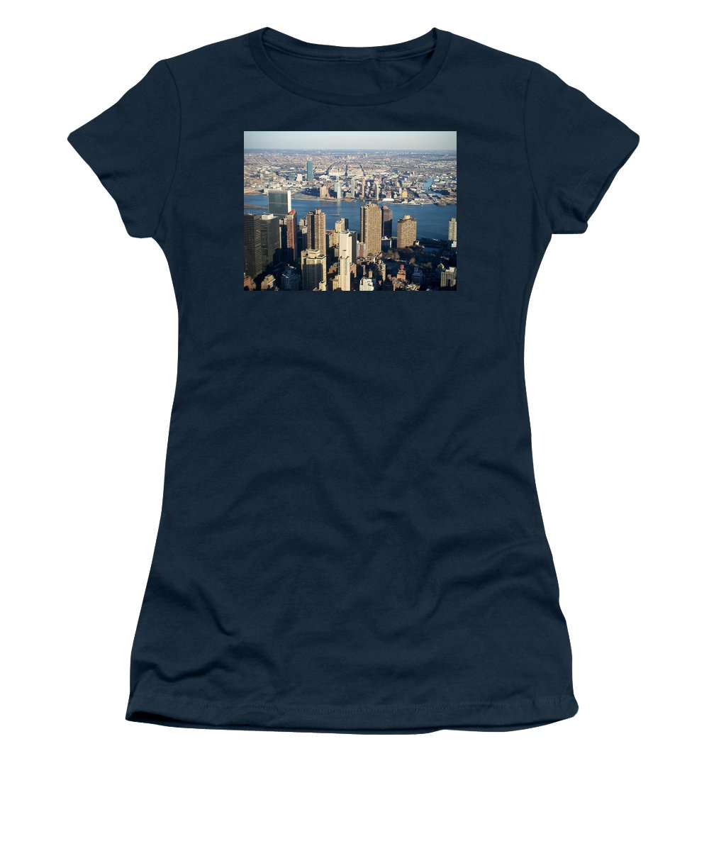 Nyc Women's T-Shirt (Athletic Fit) featuring the photograph Nyc 6 by Anita Burgermeister