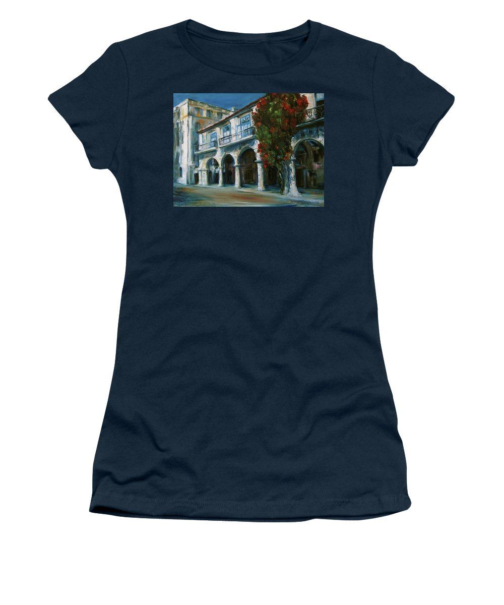 Old Havana Women's T-Shirt featuring the painting Old Havana by Jennifer Christenson