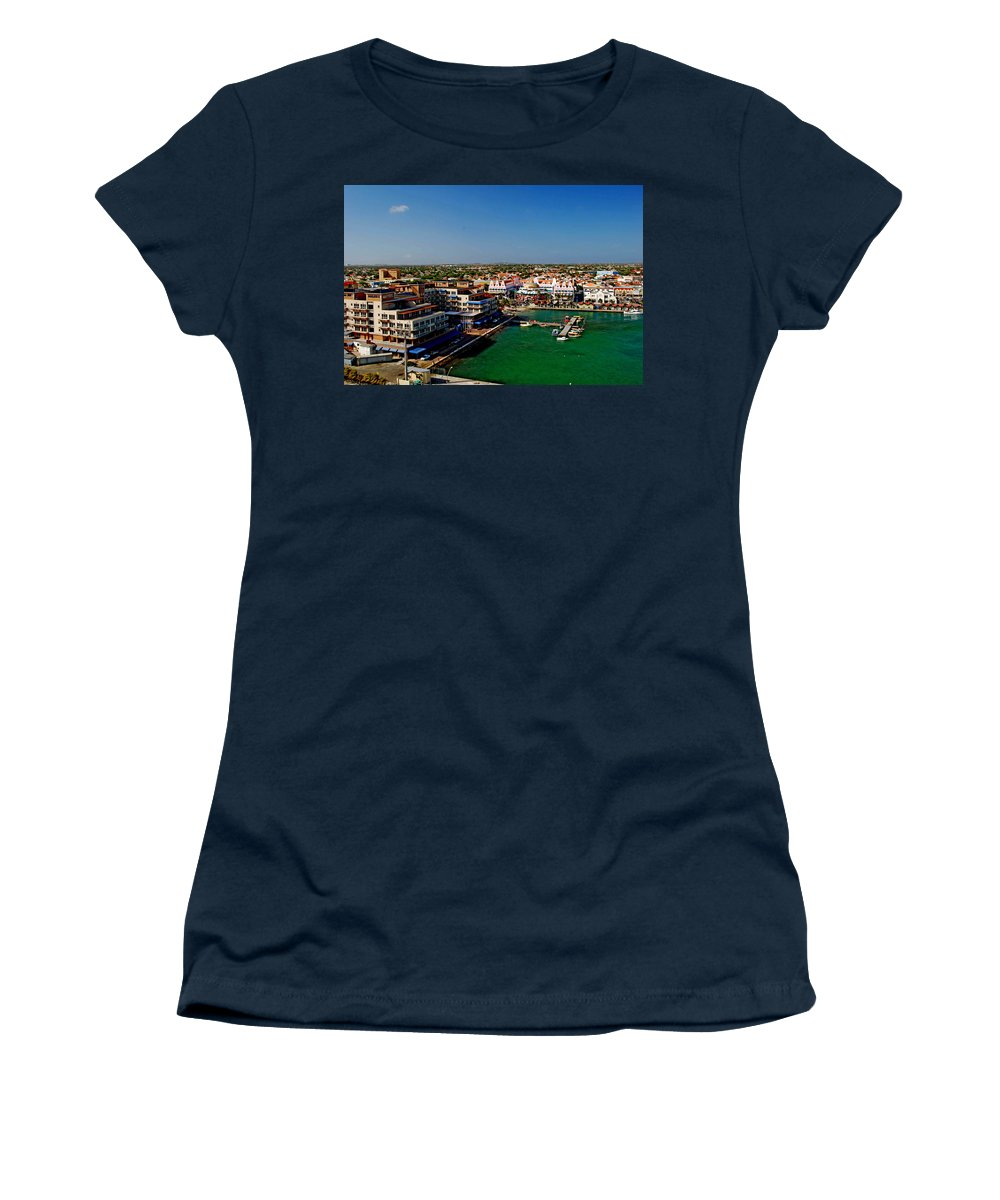 Aruba Women's T-Shirt featuring the photograph Oranjestad Aruba by Gary Wonning