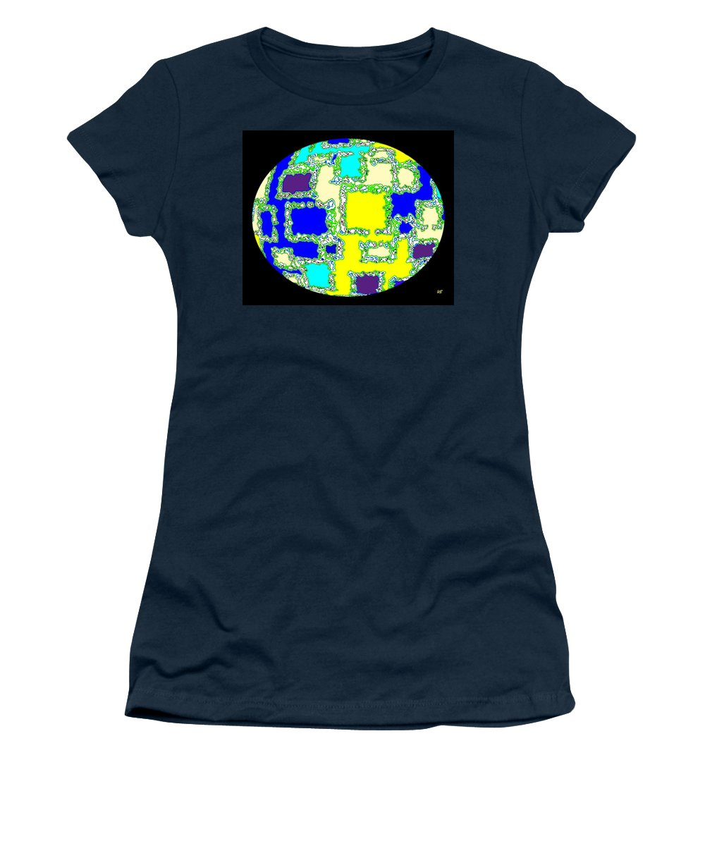 Abstract Women's T-Shirt (Athletic Fit) featuring the digital art Ostrich Egg by Will Borden