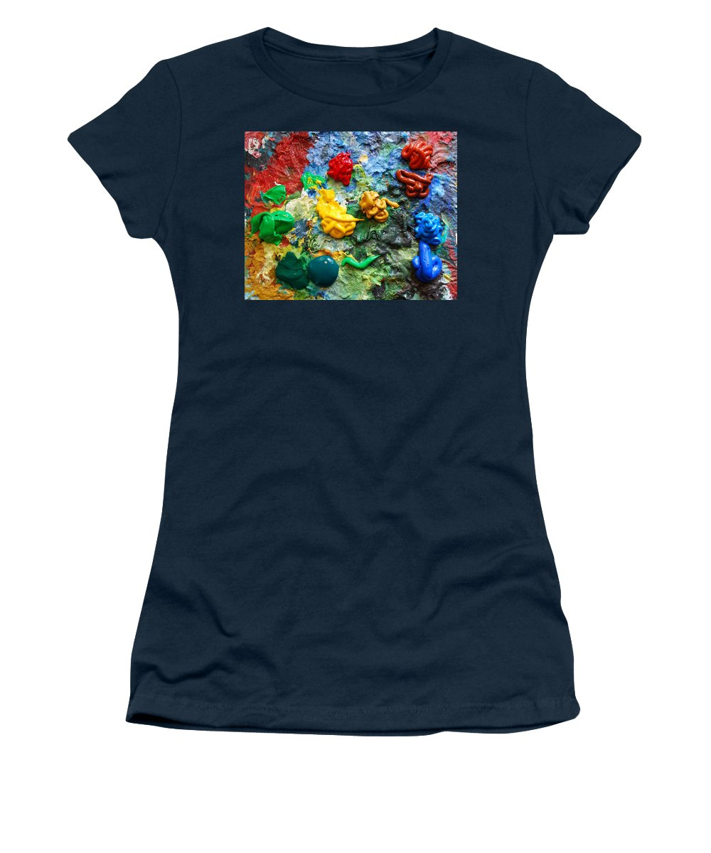 Palette Women's T-Shirt (Athletic Fit) featuring the photograph Painters Palette by Nancy Mueller