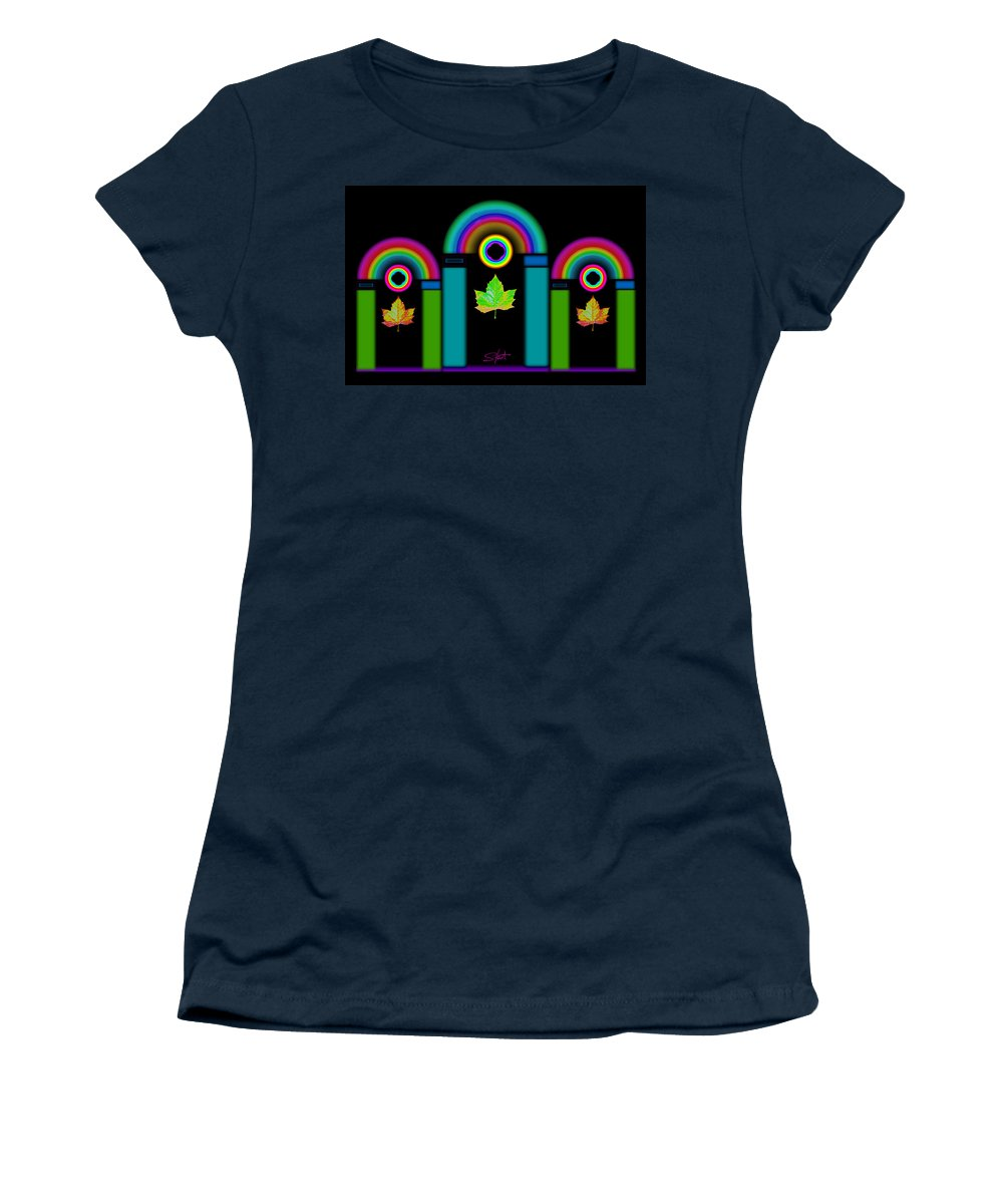 Classical Women's T-Shirt featuring the painting Palladian Fall by Charles Stuart