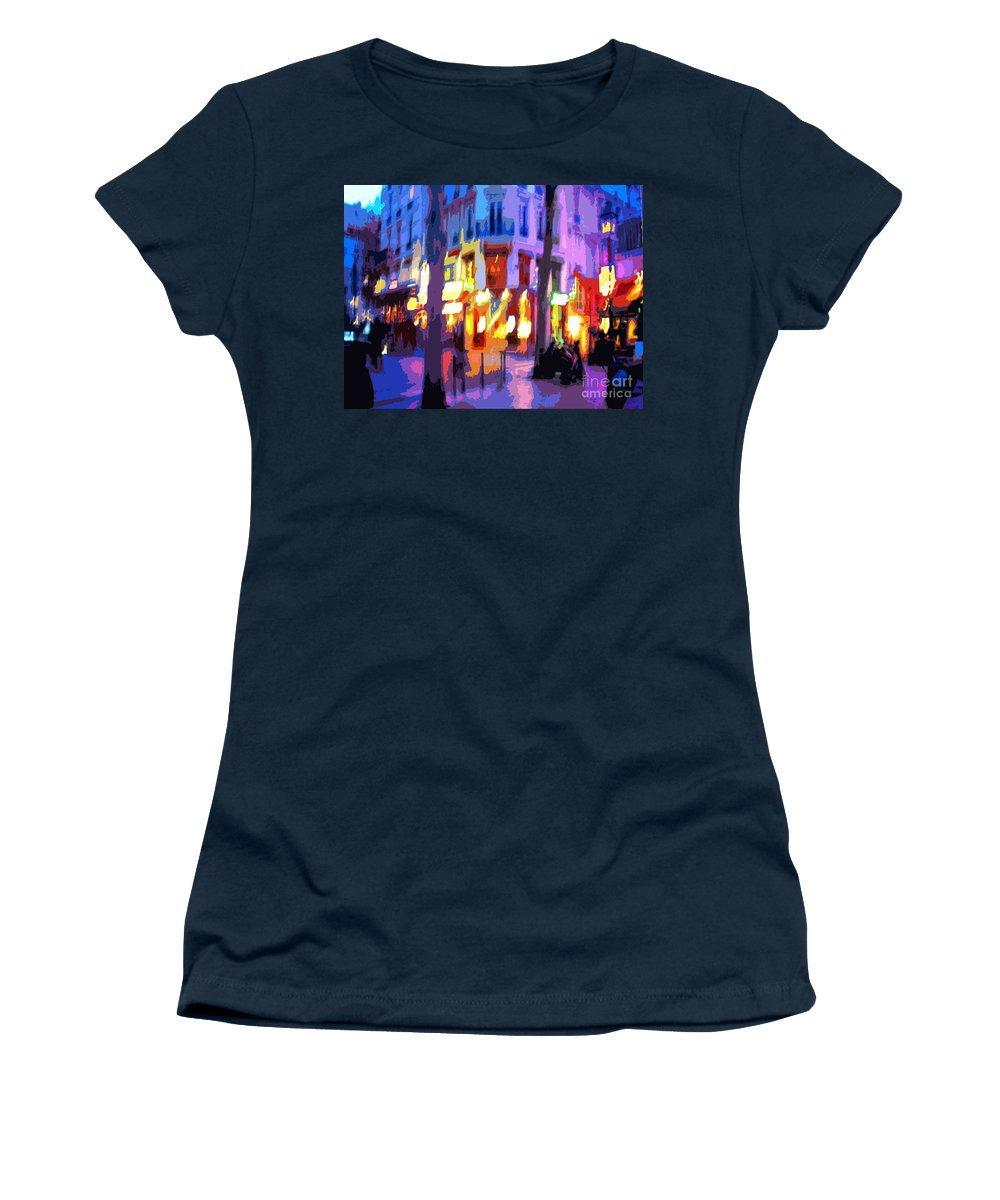 Paris Women's T-Shirt featuring the photograph Paris Quartier Latin 02 by Yuriy Shevchuk