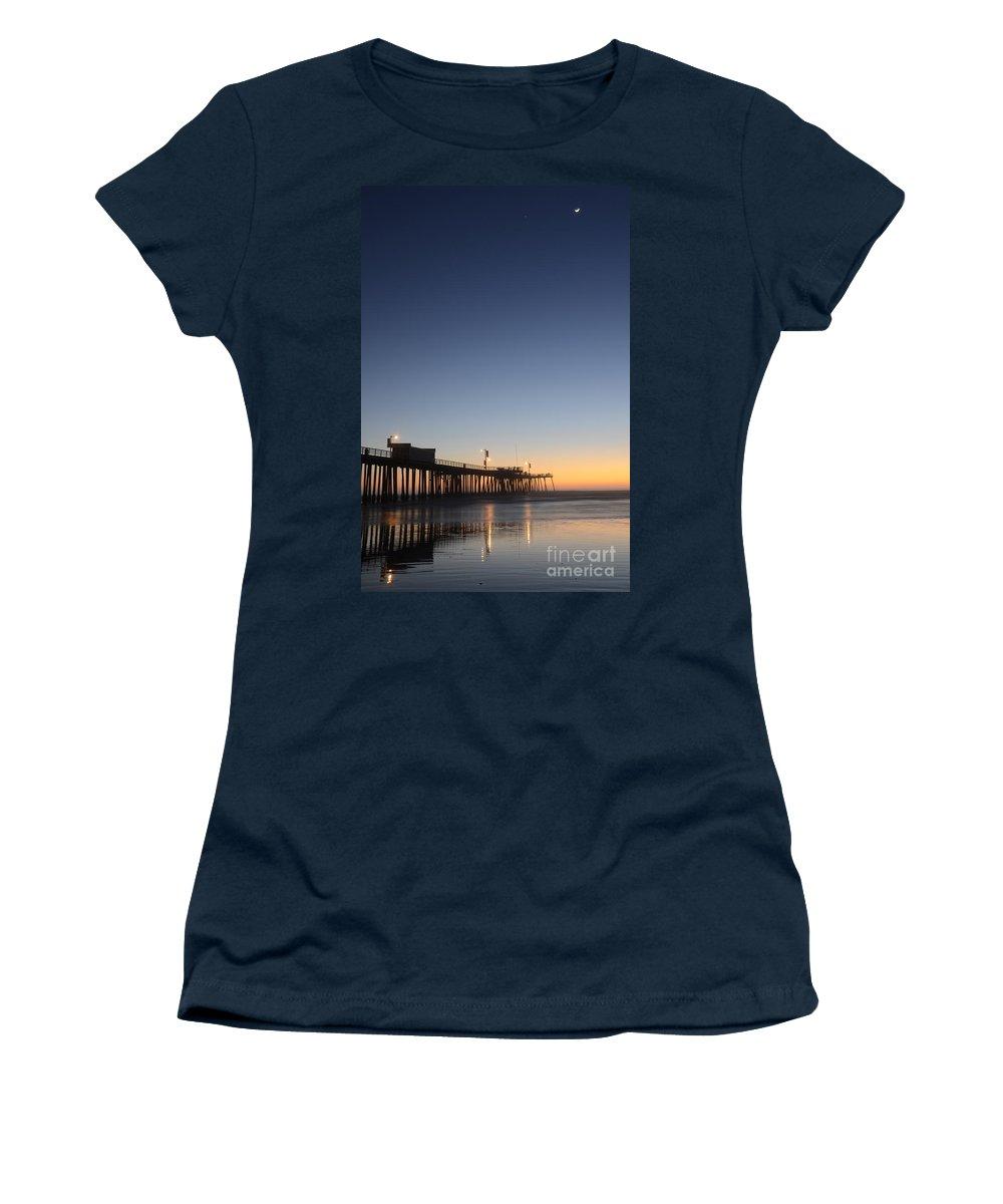 Pismo Women's T-Shirt featuring the photograph Pismo Beach Pier California 3 by Bob Christopher