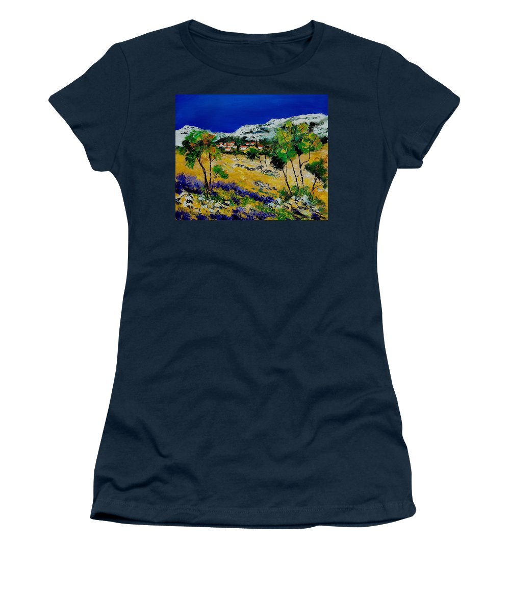 Provence Women's T-Shirt (Athletic Fit) featuring the painting Provence 569060 by Pol Ledent
