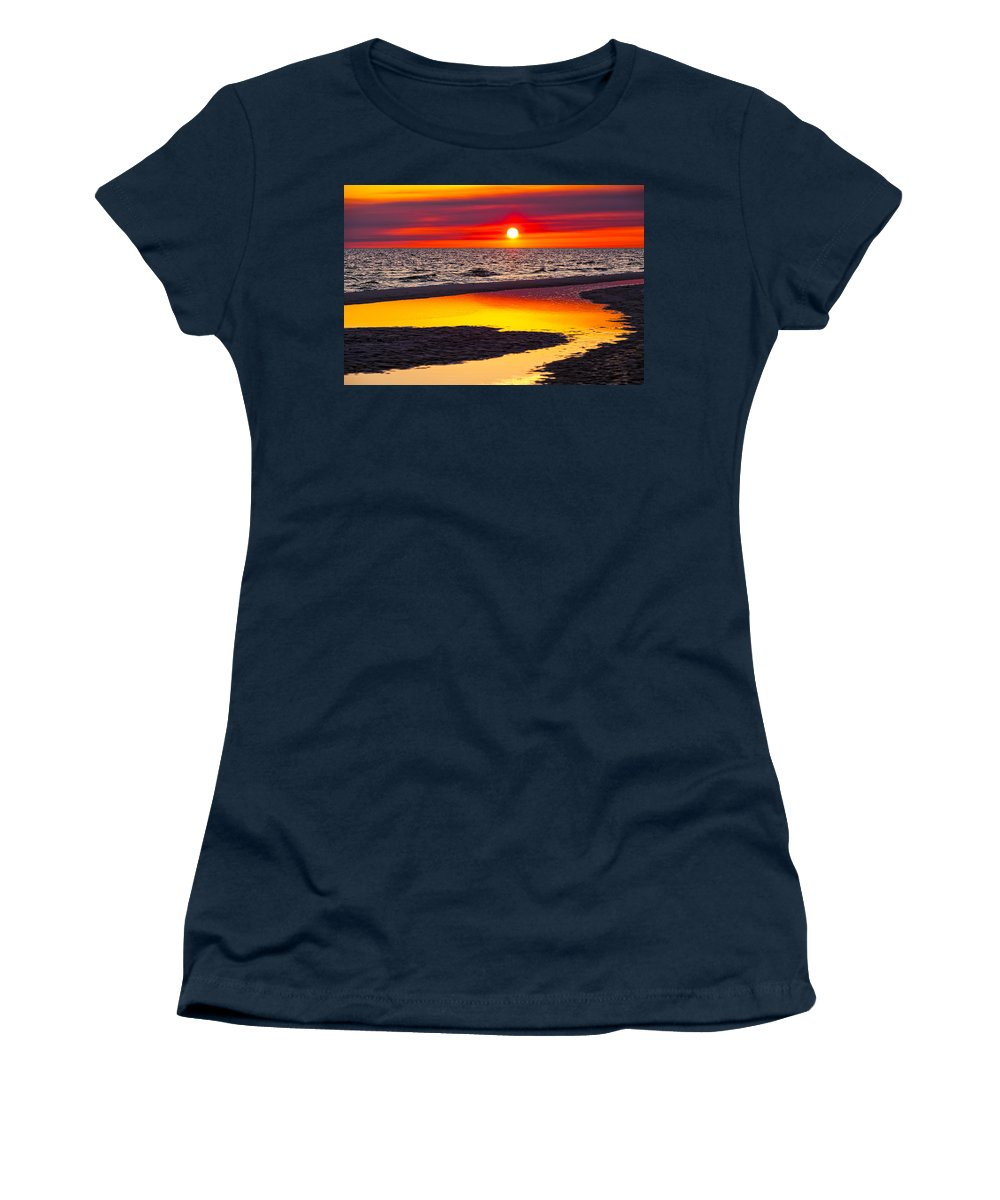 Reflection Women's T-Shirt featuring the photograph Reflections by Janet Fikar