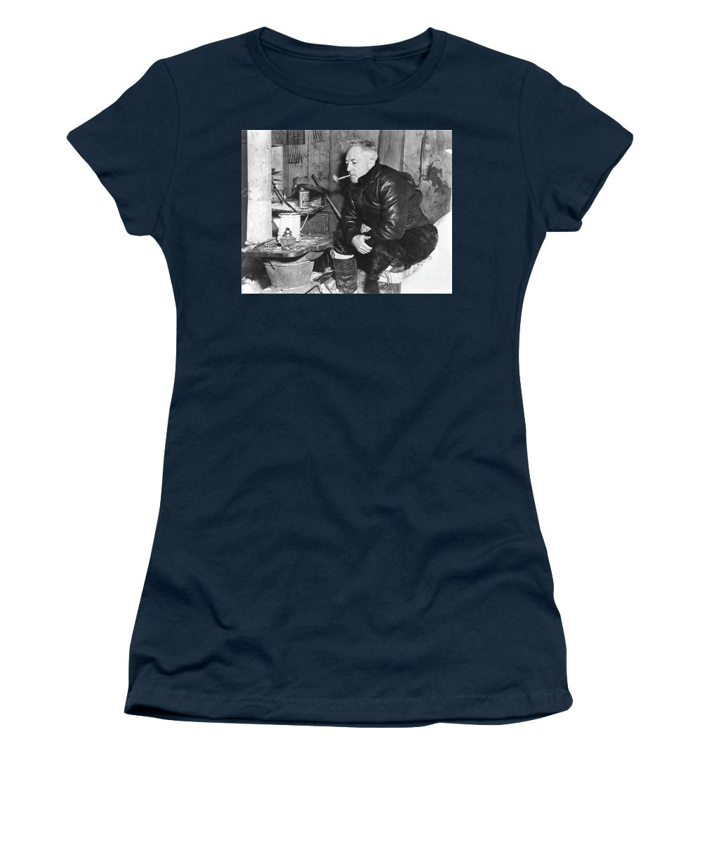 1946 Women's T-Shirt (Athletic Fit) featuring the painting Richard Evelyn Byrd by Granger