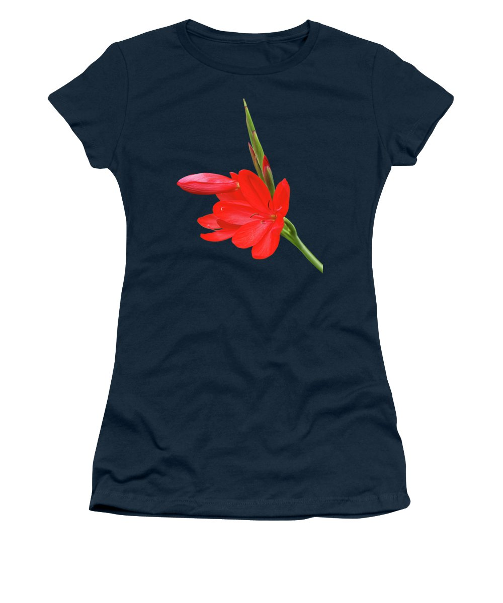 Red Lily Women's T-Shirt featuring the photograph Ritzy Red by Gill Billington