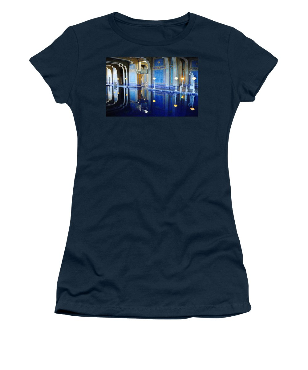 Hearst Castle Women's T-Shirt (Athletic Fit) featuring the photograph Roman Pool Hearst Castle by Kyle Hanson