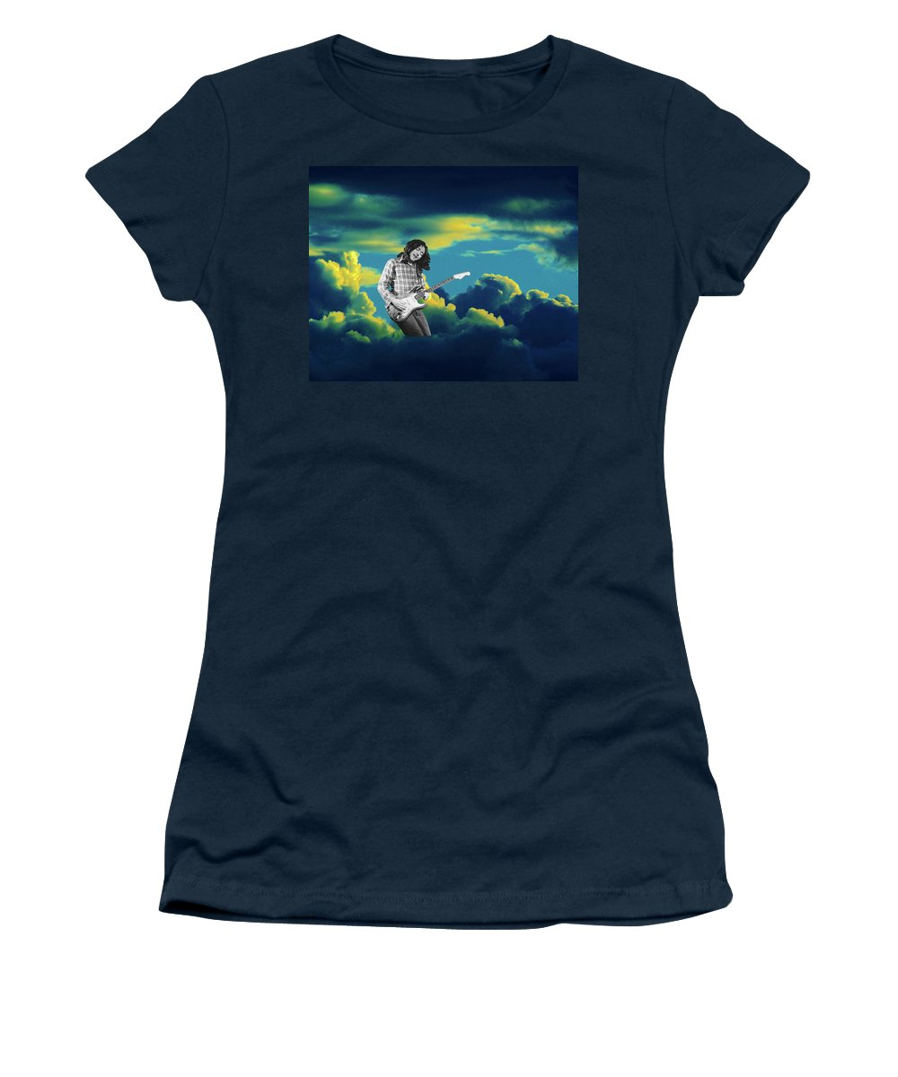 Rory Gallagher Women's T-Shirt featuring the photograph In The Clouds by Ben Upham
