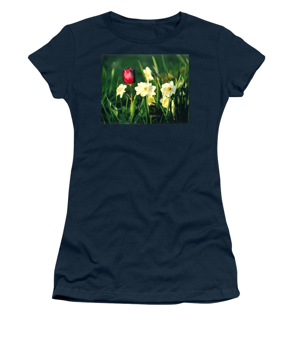 Tulips Women's T-Shirt featuring the photograph Royal Spring by Steve Karol