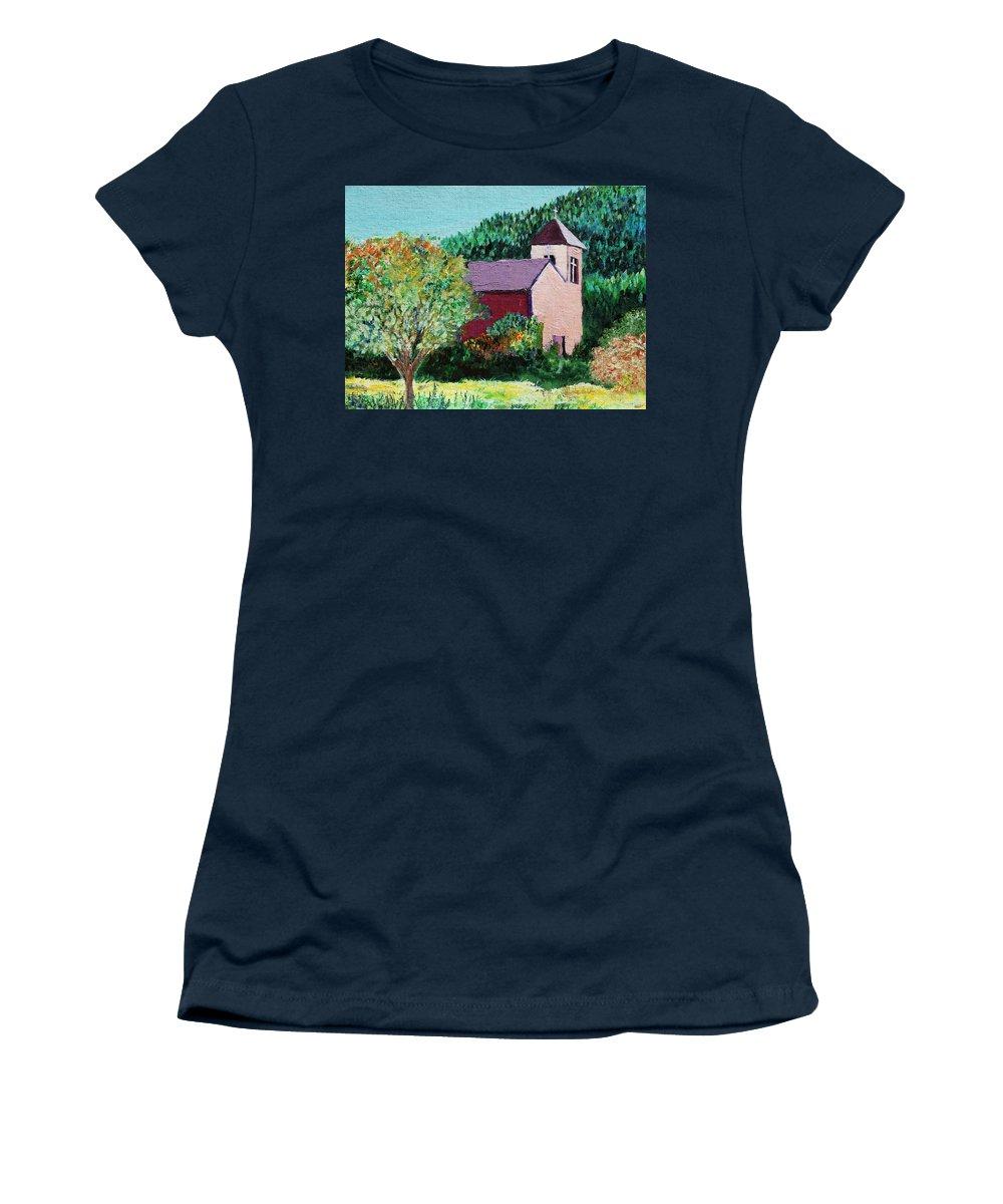Church Women's T-Shirt featuring the painting Ruidoso by Melinda Etzold