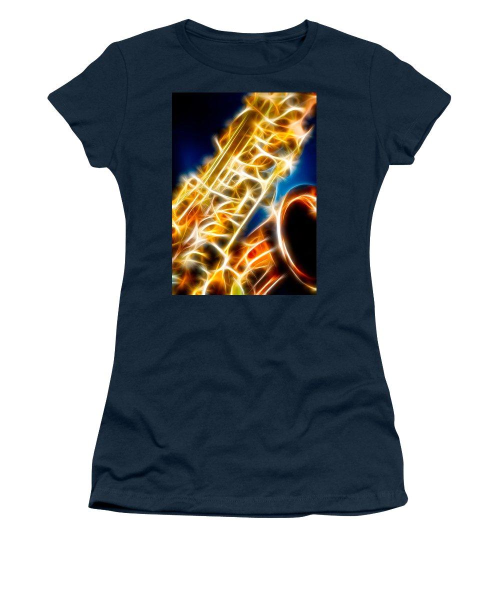 Canon Women's T-Shirt featuring the photograph Saxophone 2 by Hakon Soreide