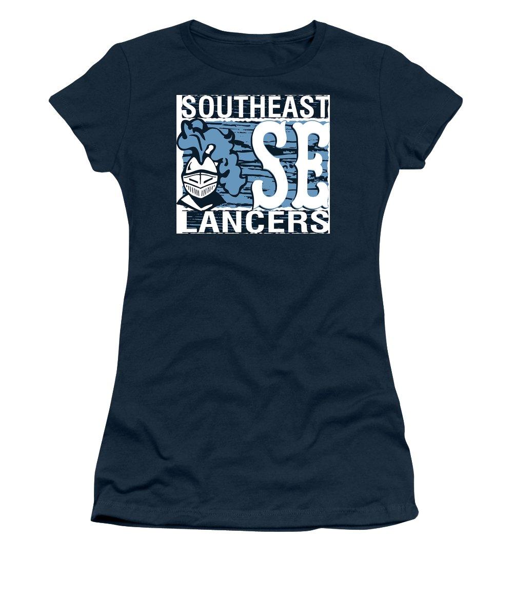 Women's T-Shirt featuring the digital art Se Lancer1 by Chad Ulepich