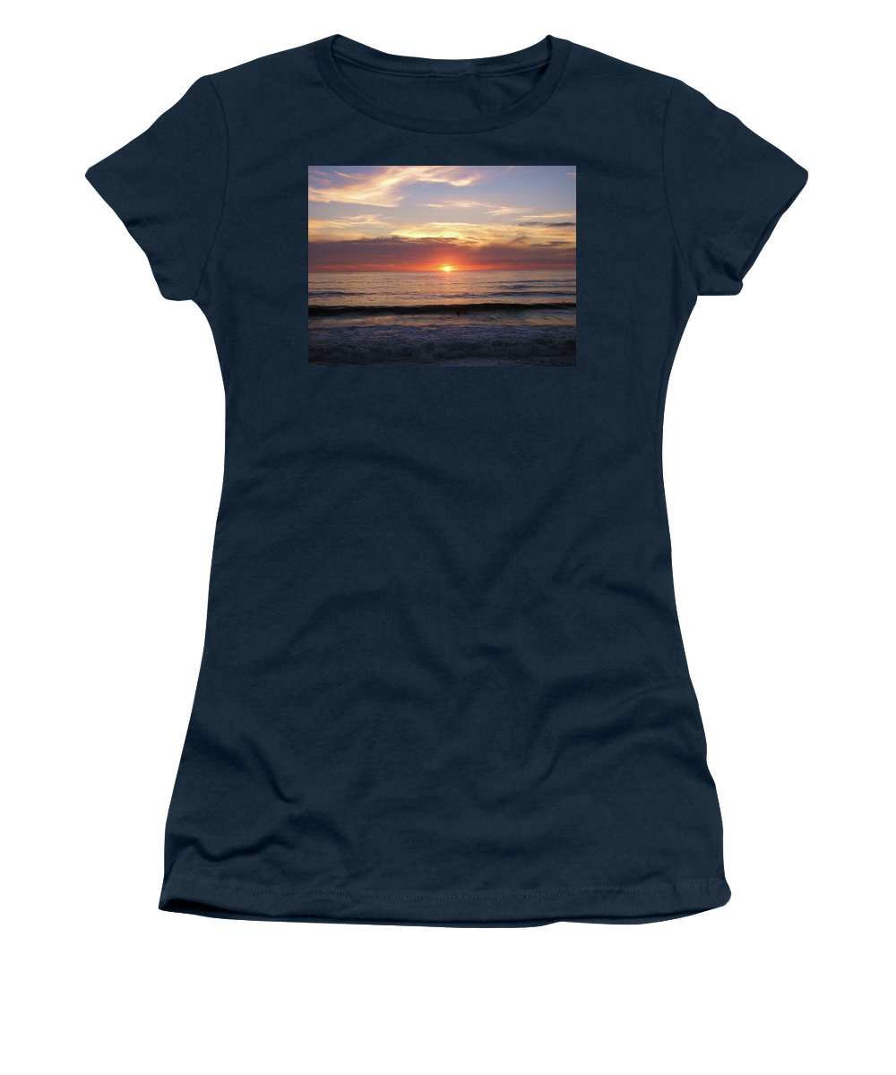 Strandhill Women's T-Shirt featuring the photograph Seascape by Louise Macarthur Art and Photography