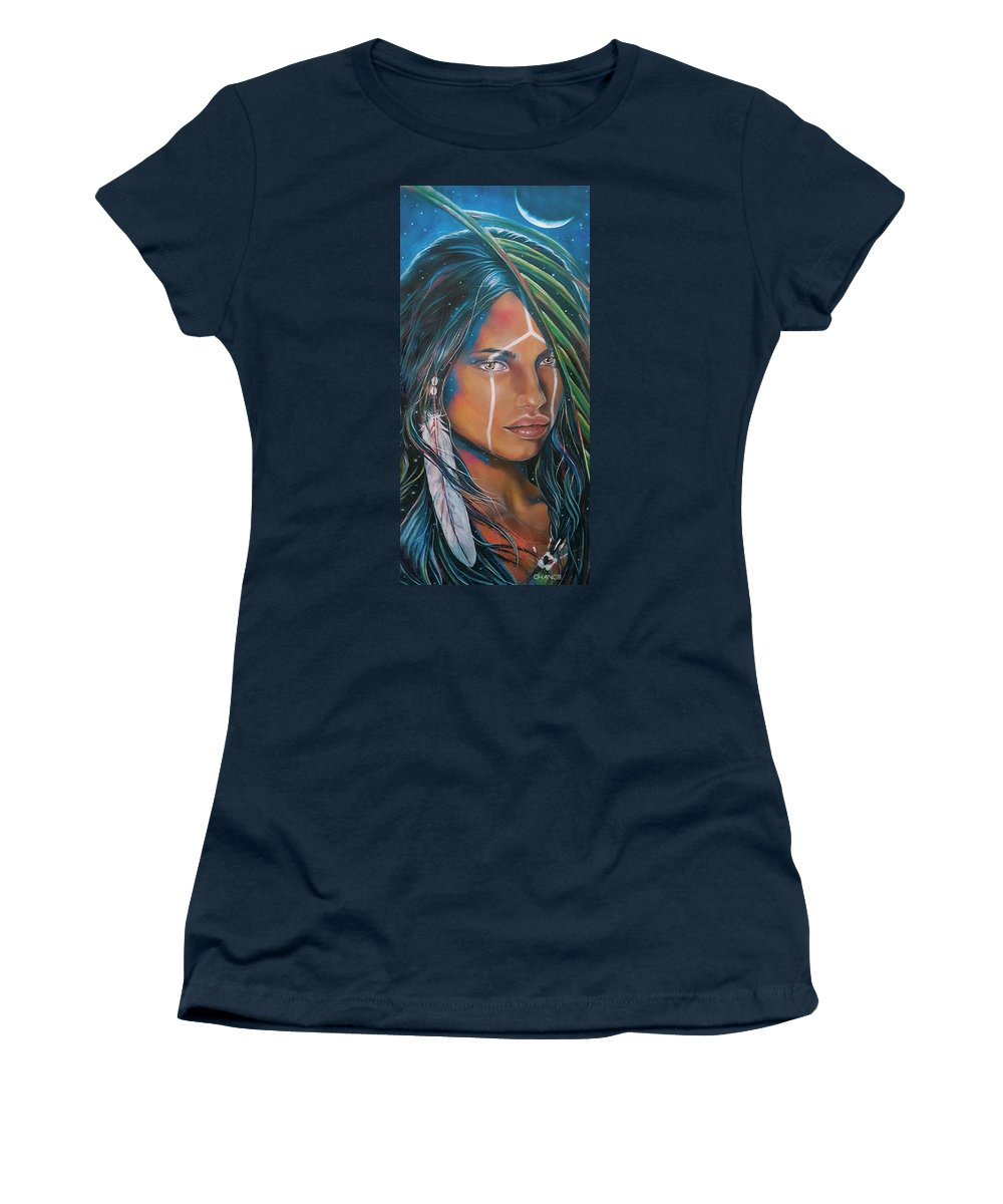 Emotional Women's T-Shirt featuring the painting Shamanic Feelher by Robyn Chance