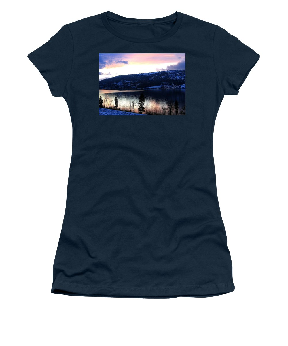 Wood Lake Women's T-Shirt featuring the photograph Shimmering Waters by Will Borden