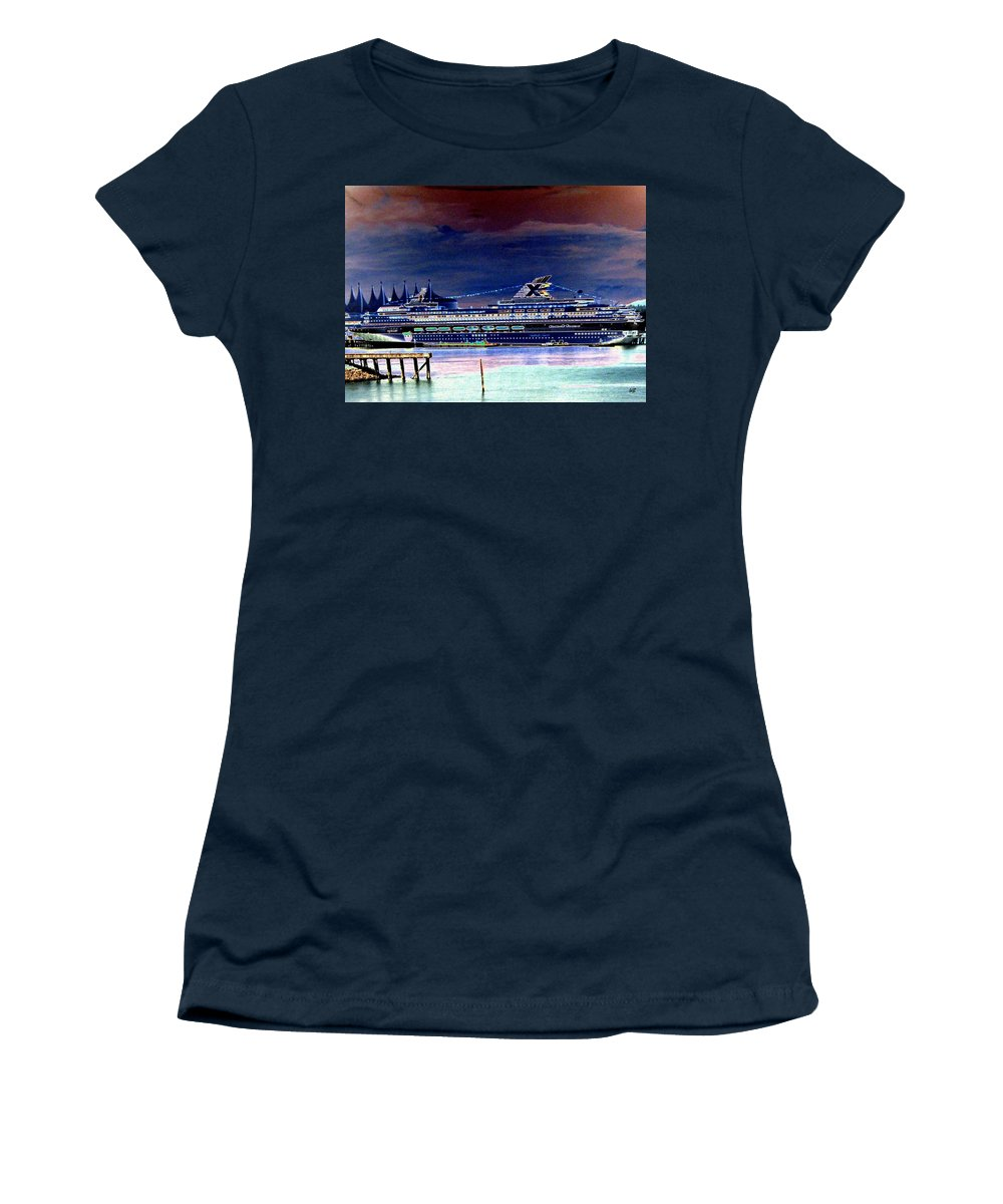Mercury Women's T-Shirt featuring the digital art Shipshape 5 by Will Borden