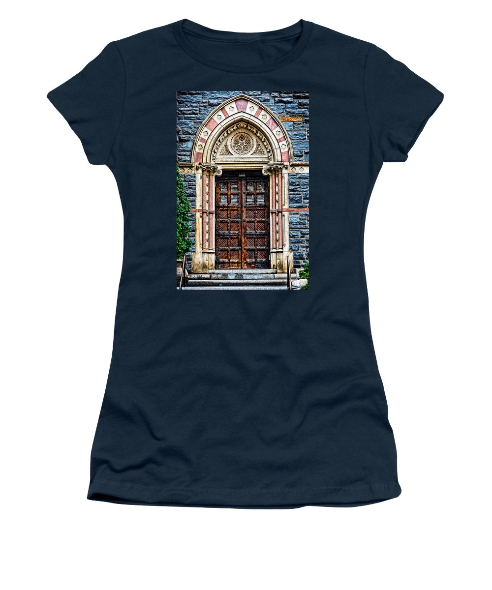 Church Women's T-Shirt featuring the photograph Side Entrance by Christopher Holmes