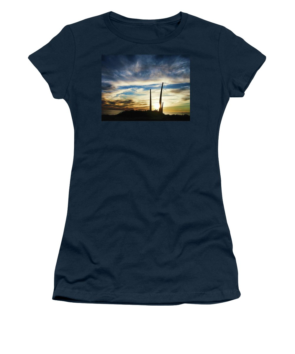 Sunset Women's T-Shirt featuring the photograph Sky Fingers by Douglas Barnard