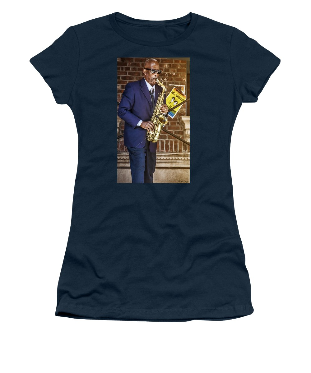 Florida Women's T-Shirt featuring the photograph Smooth Sax Man by Mark Fuge