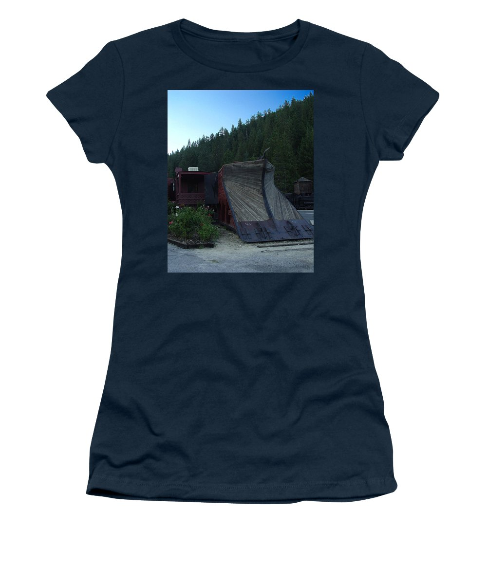 Train Women's T-Shirt (Athletic Fit) featuring the photograph Snow Plow by Peter Piatt