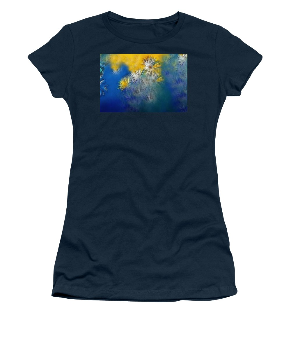 Flower Women's T-Shirt featuring the photograph Soft-flowers by Manfred Lutzius