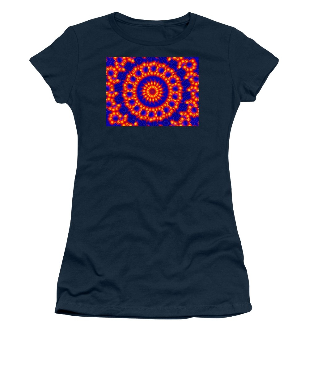 Sun Women's T-Shirt (Athletic Fit) featuring the digital art Solar Energy by Robert Orinski