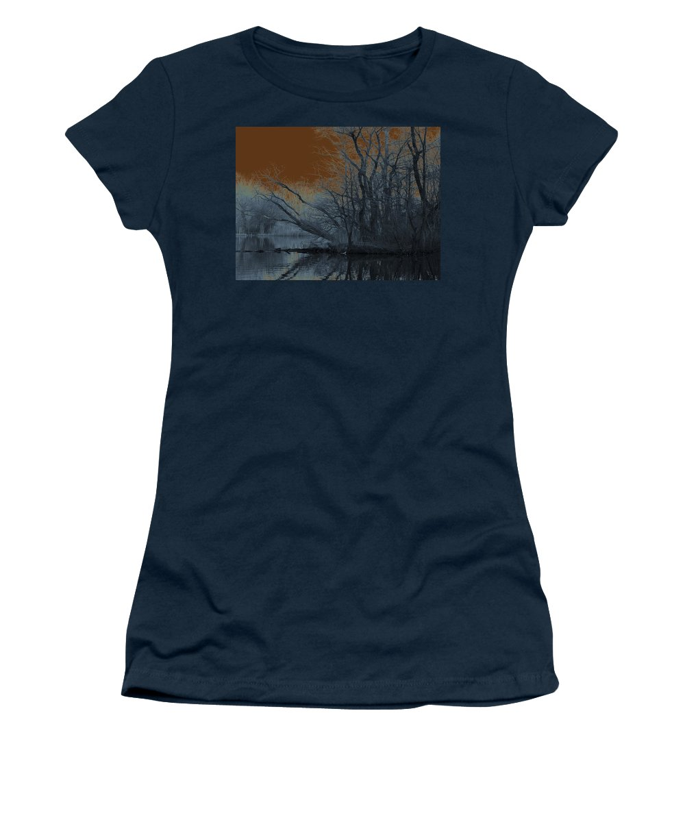 Solarization Women's T-Shirt featuring the photograph Solarization by Kendall Eutemey