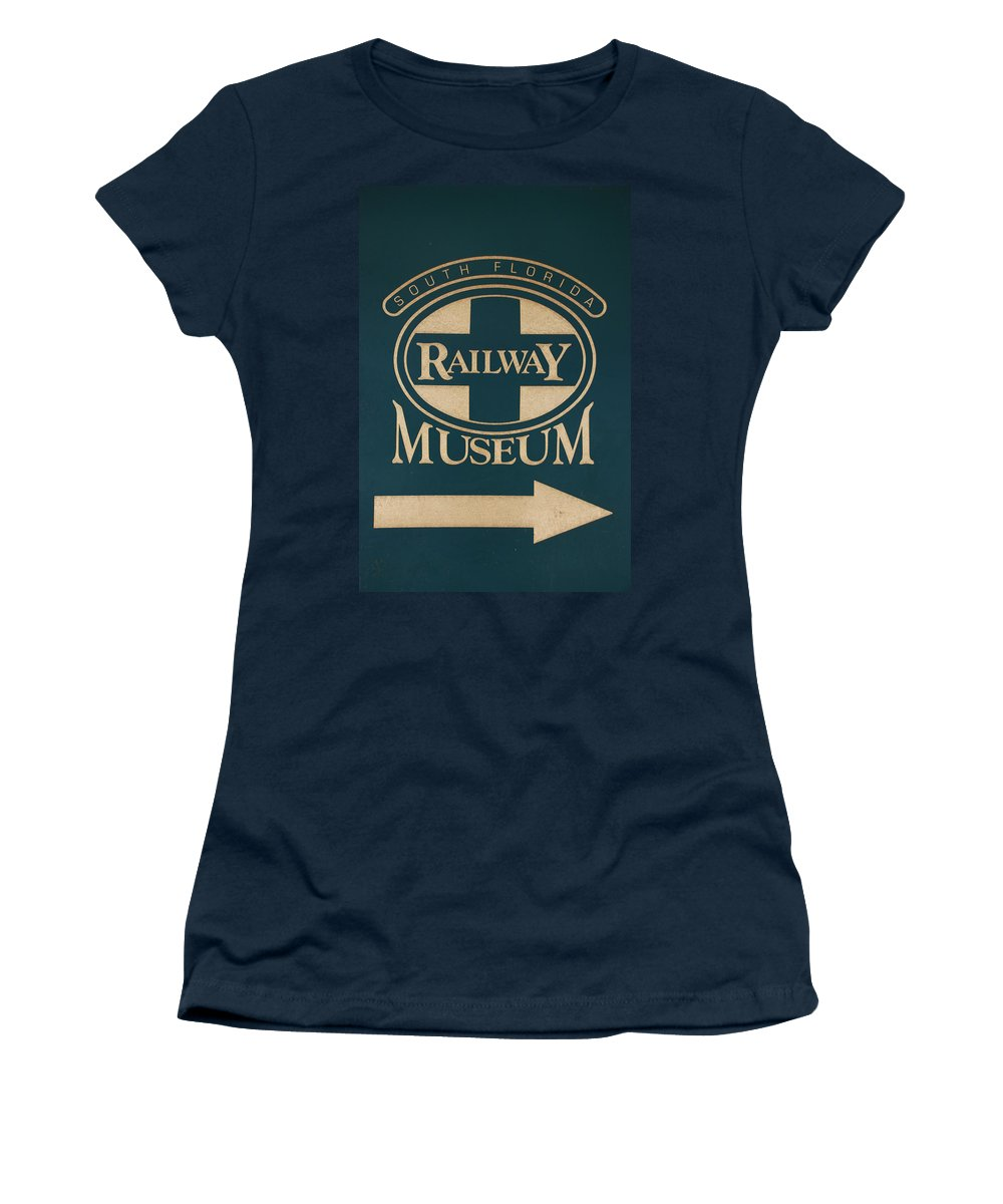 South Florida Railway Museum Women's T-Shirt featuring the photograph South Florida Railway Museum by Rob Hans
