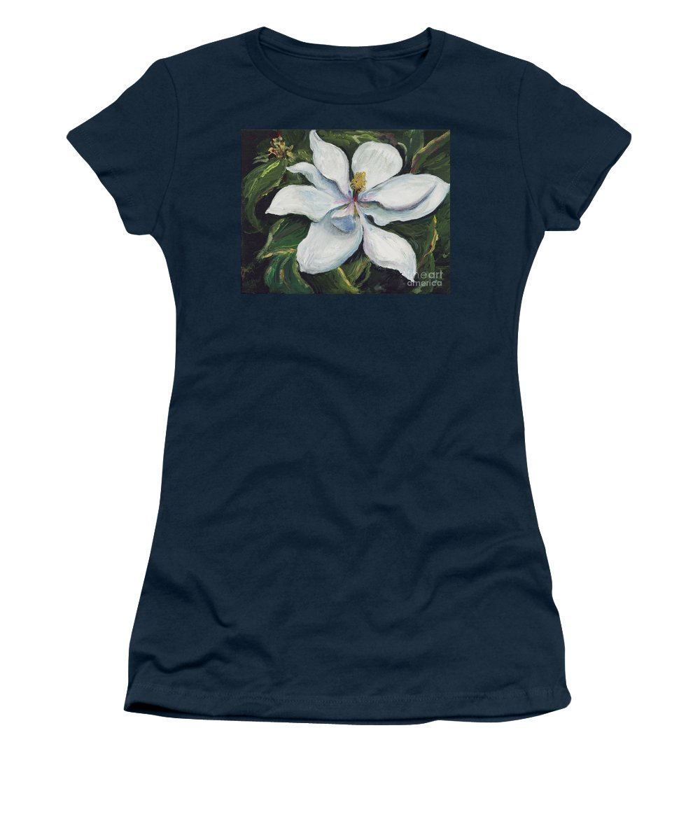 Green Women's T-Shirt (Athletic Fit) featuring the painting Southern Beauty by Nadine Rippelmeyer