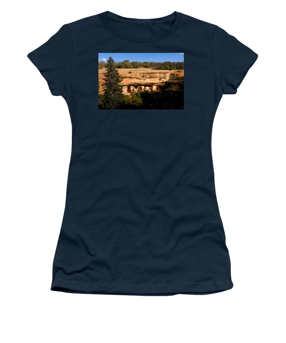 Art Women's T-Shirt featuring the painting Spruce Tree House by David Lee Thompson