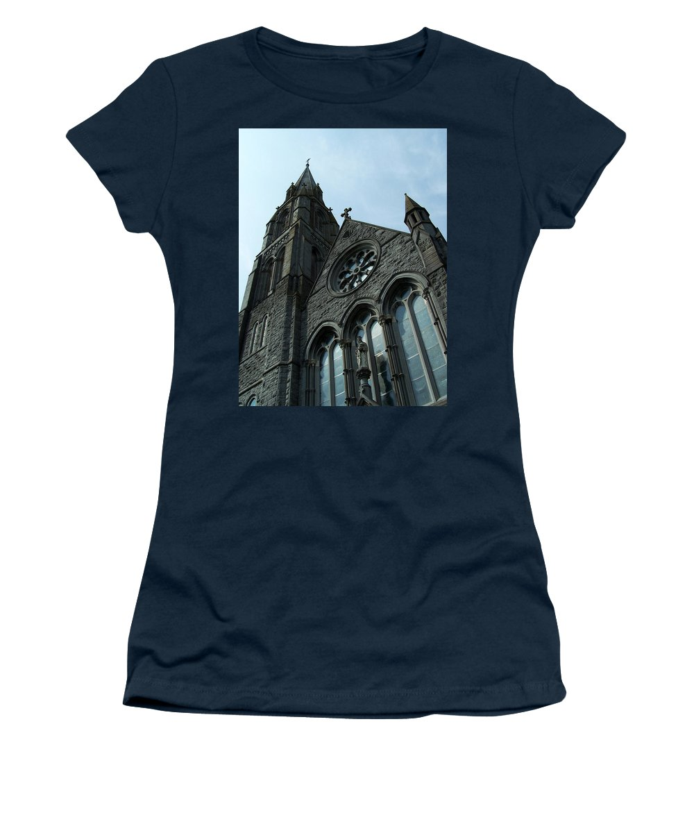 Ireland Women's T-Shirt (Athletic Fit) featuring the photograph St. Mary's Of The Rosary Catholic Church by Teresa Mucha