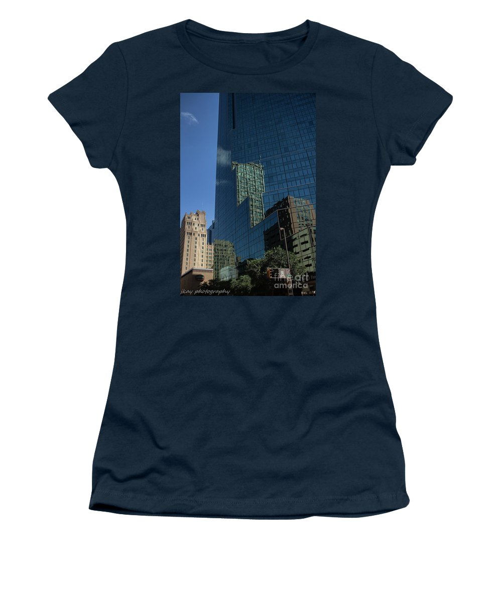 Downtown Women's T-Shirt featuring the photograph Stacked by Jennifer Seilhant