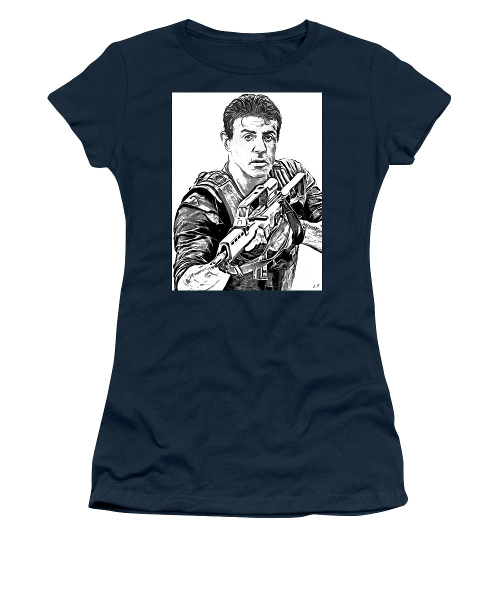 young Sylvester Stallone T-shirt Gift Retro Stallone Tshirt