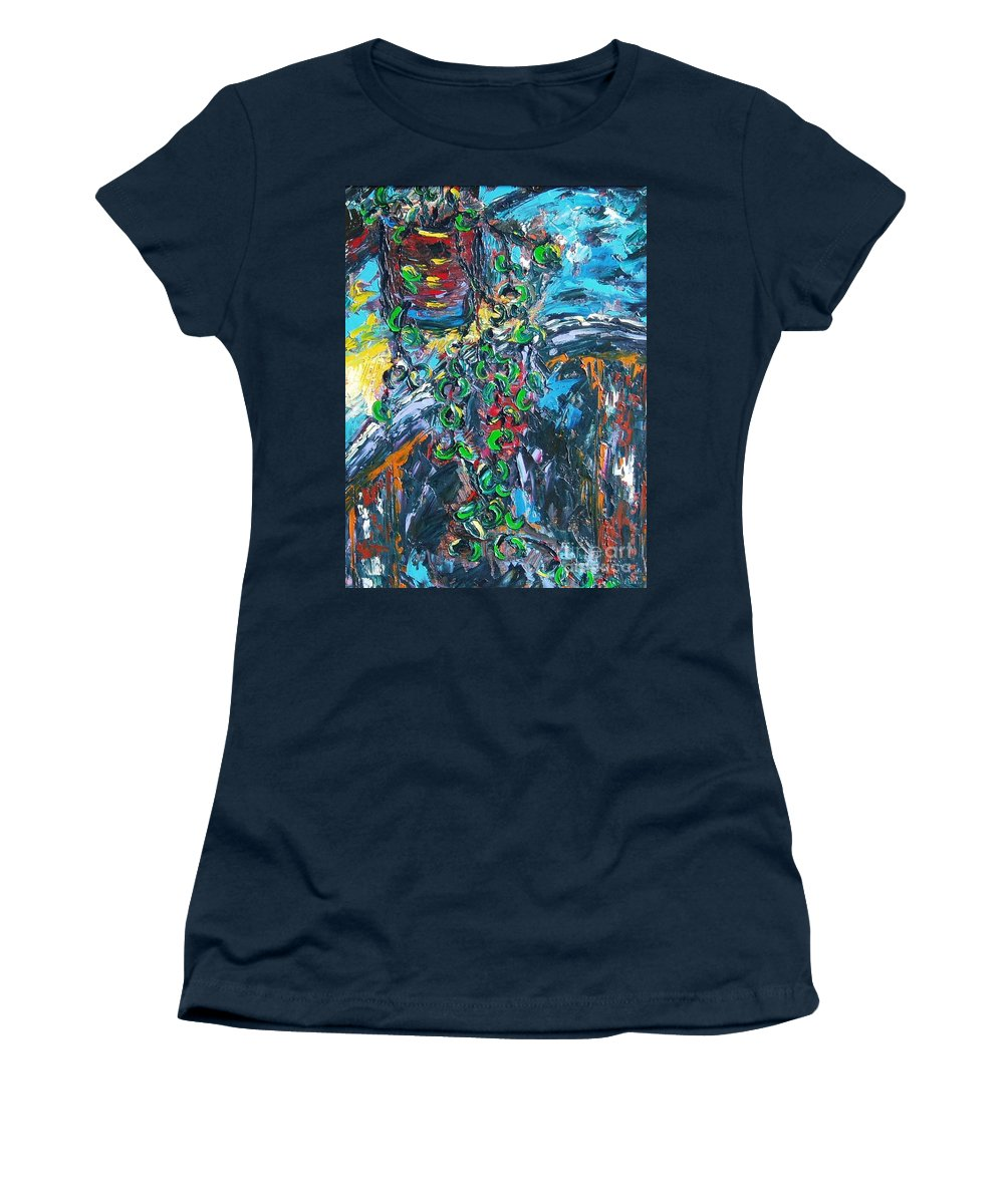Sjkim Art Women's T-Shirt (Athletic Fit) featuring the painting Abstract Still Life by Seon-Jeong Kim