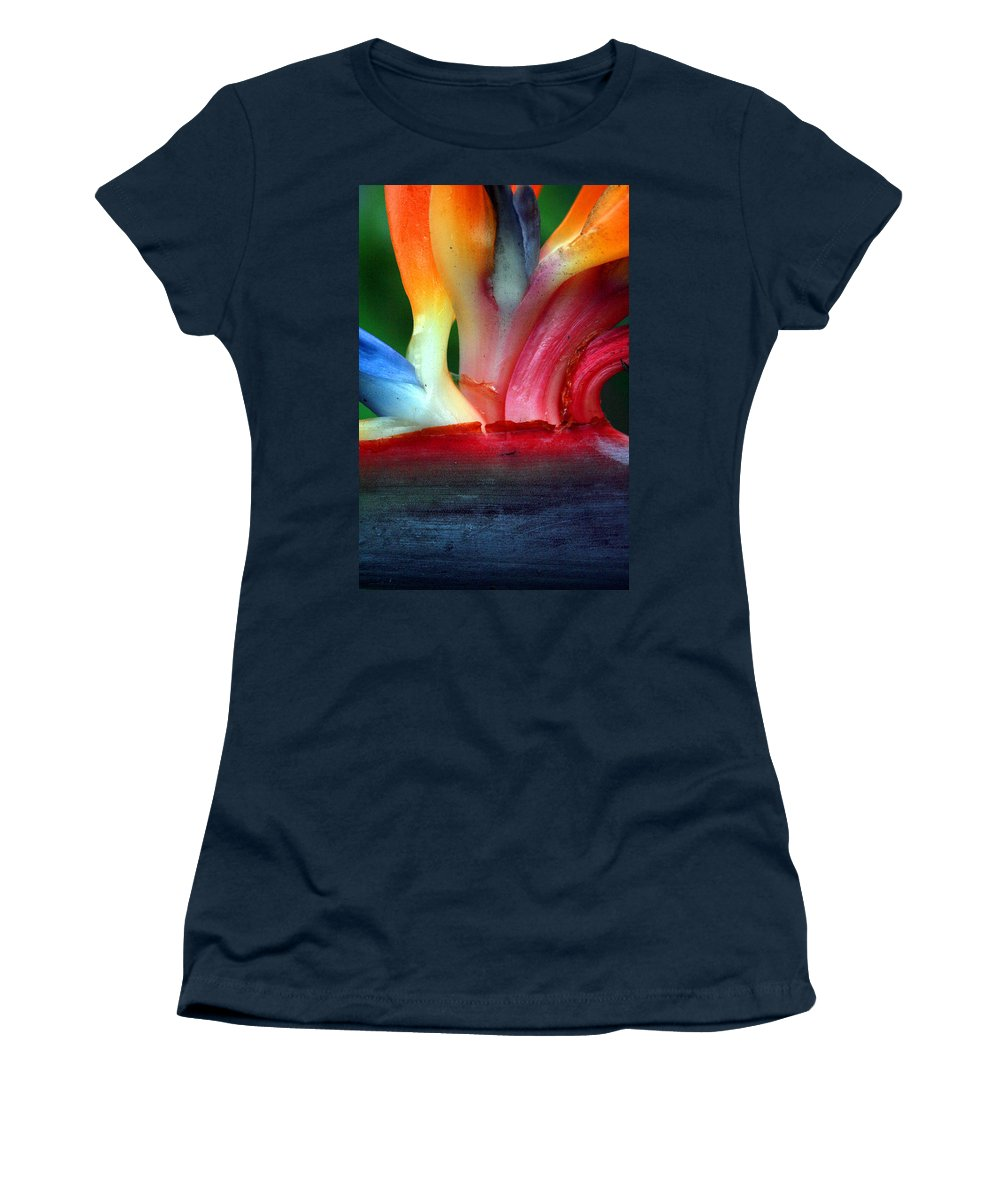 Flower Women's T-Shirt featuring the photograph Study Of A Bird Of Paradise 3 by Jennifer Bright